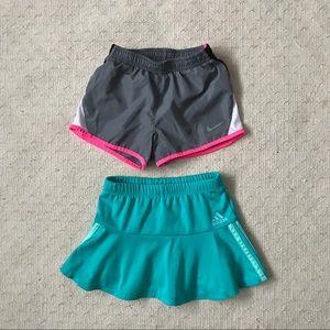 Adidas Skort + Nike Shorts size 4 / 4T